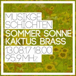 Sommer Sonne Kaktus Brass